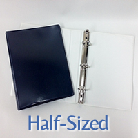 half size binders 8.5 x 5 inches