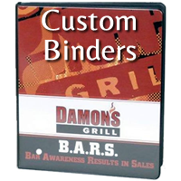custom printed vinyl binders