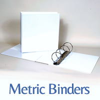 metric binders A4 clearview
