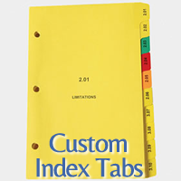 custom index tabs printed