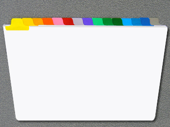 rainbox colored index tabs